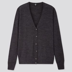 New Uniqlo extra fine merino V neck cardigan